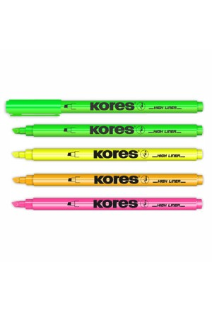 KORES HIGHLIGHTER MARKERS IN 4 COLOURS