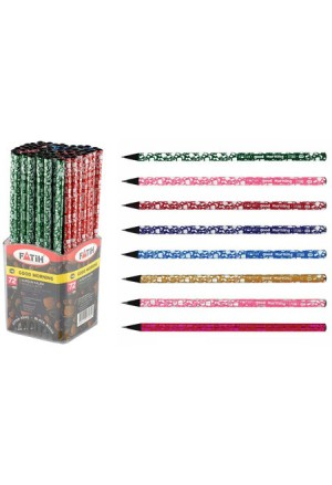 PENCIL PENSAN BLACK WOOD HB WITHOUT RUBBER GOOD MORNING 6COLOURS