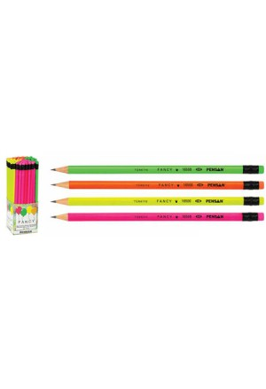 PENCIL PENSAN HB RUBBER FANCY 4COLOURS