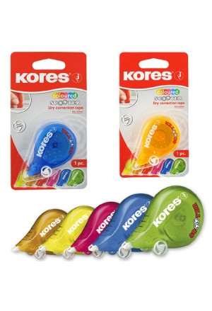 DRY CORRECTION TAPE KORES SCOOTER COLOR 4,2mm X 8M