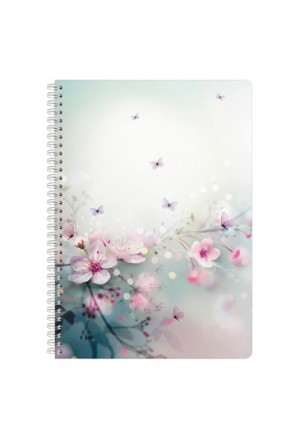 CHACHA notebook A5 spiral striped
