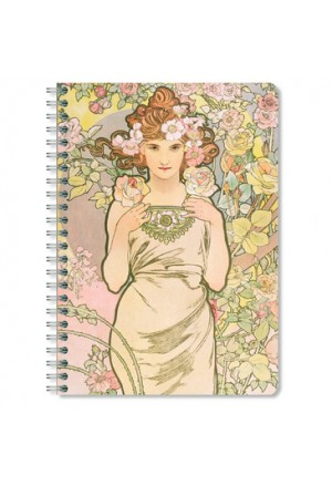 MUCHA 3 striped Notebook A5