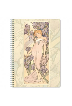 MUCHA 3 Notebook Spiral A4